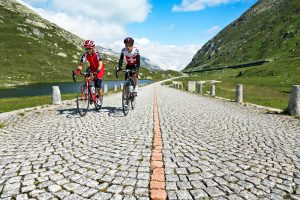 Road riding on the Gotthard Pass