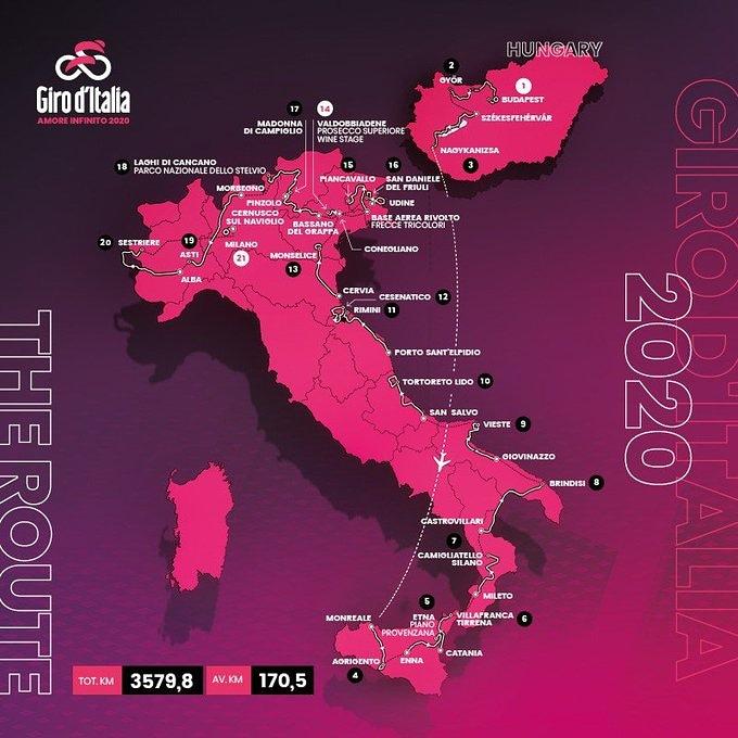 Giro 2020 Parcours